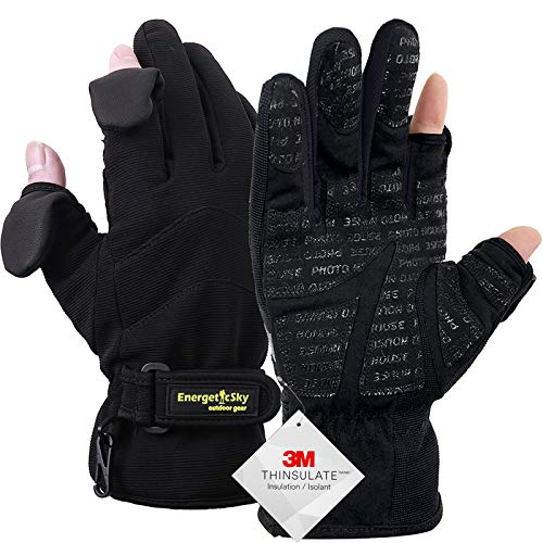 Waterproof Winter Gloves,3M Thinsulate Ski & Snowboard Gloves for Men and Women,Touchscreen Gloves for Fishing,Photographing,Hunting Outdoor Activities.