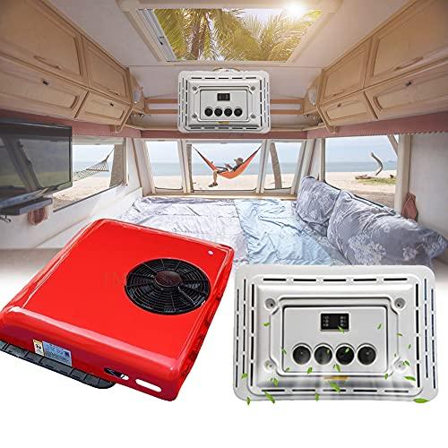 HAIT Aire Acondicionado Caravanas Claraboya Caravana, Consumo de Energía de 24 V DC Aire Acondicionado Portátil, Capacidad de Enfriamiento: 2600W / 1800W,Rojo,24V