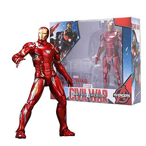 bed linings Vengadores Capitán América Spider-Man Muñeca Modelo Articulado Movible Regalo De Los Niños Colección De 7 Pulgadas Iron Man