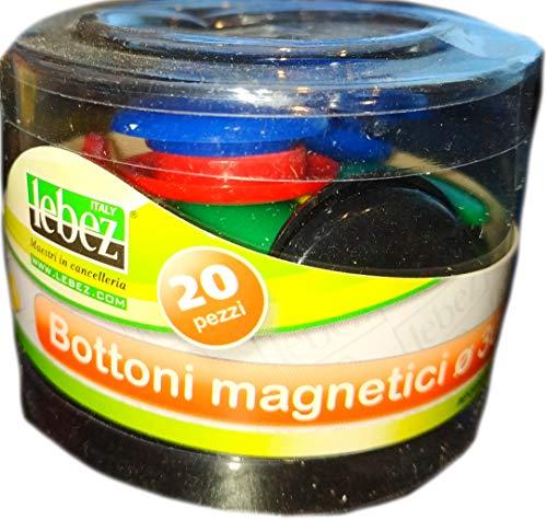 LEBEZ doos 20 ronde magneten Ø 30 mm kleur Type: 2141