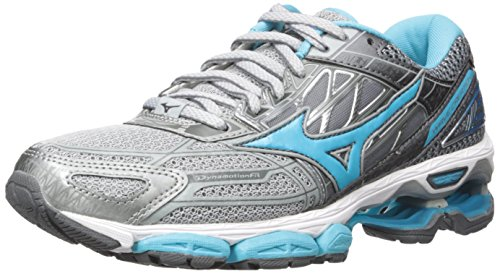 Mizuno Running Women's Wave Creation 19 Shoes, High-Rise/Blue Atoll/Castlerock, 6 B US