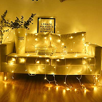 Luccase 40 LED String Lights 4M/13ft Warm White Fairy Battery Powered Garland Lighting Decoration for Christmas Wedding Birthday Holiday Party Indoor & Outdoor from Luccase