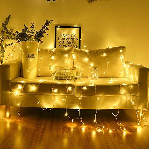 4 Meter 40 Lichter USB dekorative Lichterkette Indoor Urlaub Party Sternenhimmel Dekoration Eiszapfen Licht,Vorhang Licht