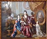 ODSAN Marquise De Noailles With Her Children - By Nicolas De Largillierre - Impresión en lienzo 28x23 pulgadas - sin marco