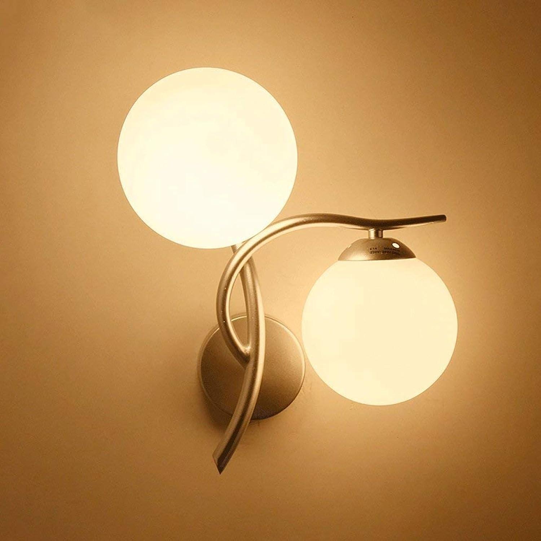 LED-Wand kreative Nacht Lampe Tisch Lampe Moderne minimalistische, Schlafzimmer Balkon Gehen Wand Lampe Wand Lampe Lounge Treppe Stud (Farbe  Gold) (Farbe   Gold)