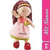 HABA Stoffpuppe Mona mit Namen Bestickt, weiche Erste Baby Puppe mit Kleidung und Haaren, 0-5 Jahre...
