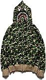 CPBY Bape Hoodie Shark Hoodie Bape Bape Jacket Hombres De Hombres Srsa Mayores Mayores Mujer Desea De Residuos Moda De Respuesta, Grün - 3XL