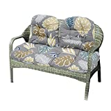 3Pack Bench Cushion, Indoor/Outdoor Cotton Garden Furniture Loveseat Cushion Wicker Settee Cushion for Lounger Garden Furniture Patio Lounger Bench(Chair Not Included) (Style B)