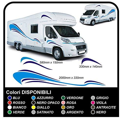 Pegatinas para autocaravanas Vinilo Pegatinas gráficas Set camper van RV truck van caravana horsebox caravana-gráficos 09-kit completo pegatinas y caravanas de calidad superior (COLORES COMO EN FOTOS)