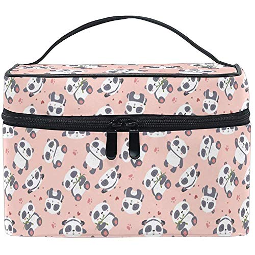 Trousse de Maquillage Rose Pan_da Paw Travel Cosmetic Bags Organizer Train Case Toiletry Make Up Pouch