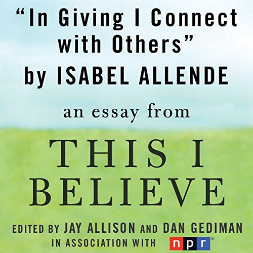 In Giving I Connect with Others audiobook cover art