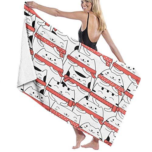 Jupsero Toallas multiusos lindas de las fibras Cat2 de la hoja de baño grande/toalla de playa/toalla de baño