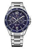 Tommy Hilfiger Herren Analog Quarz Uhr mit Edelstahl Armband 1791366