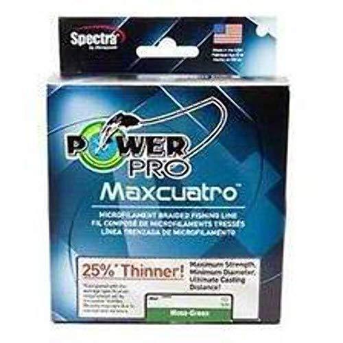 POWER PRO 33400800500E Maxcuatro Braided Fishing Line 80 lb500 yd Moss Green