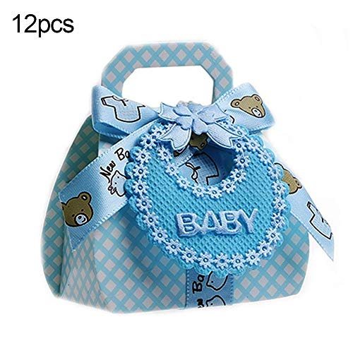 Lai-LYQ 12 Stks Candy Boxen Baby Douche Christening Party Bruiloft Favor Gift DIY Verpakkingstas