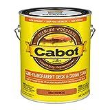 Cabot 140.0000380.007 Semi-Transparent Deck & Siding Stain, Gallon, Redwood