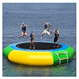Wotryit 10 Ft Inflatable Water Trampoline Bounce Swim Platform Inflatable Bouncer Jump...