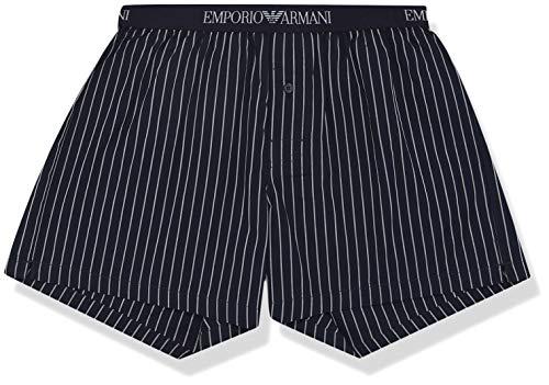 Emporio Armani heren Loungewear - Yarn Dyed Woven Boxer Boxershorts