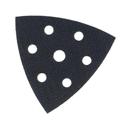 Ersatzklett für Deltaschleifer Schleifplatte 93x93x93 mm 6-Loch, Klett-Ersatz-Dreieck selbstklebend für Schleifpapier Dreieckschleifer – DFS