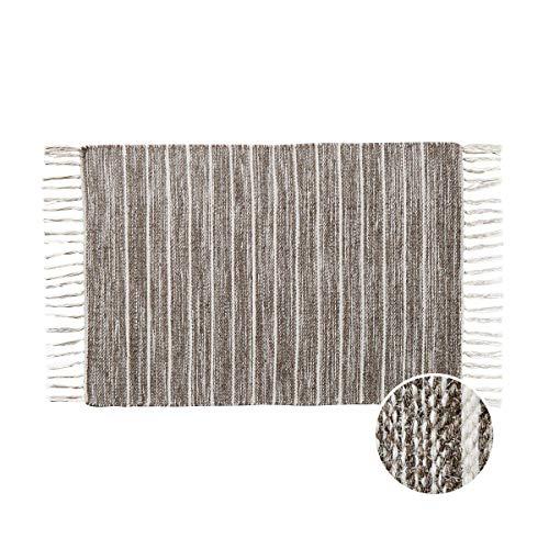 Butlers Good Loom Teppich mit Fransen L 90 x B 60cm