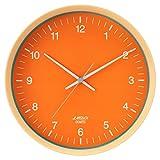 ランデックス(Landex) 掛け時計 アナログ 連続秒針 29.3cm フェイスオン オレンジ YW9155OR