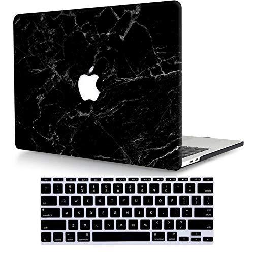 """Bandless ACJYX Compatible con MacBook Pro 13"""" Funda con CD-ROM (Modelo: A1278, Versión Anterior 2012 2011 2010 2009 2008), Funda Protectora de Plástico Duro y Cubierta para Teclado, Mármol Negro"""