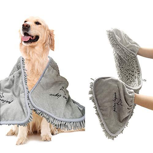 Patas Lague Toallas absorbentes para perros, toalla para mascotas, toalla de secado de microfibra para perros