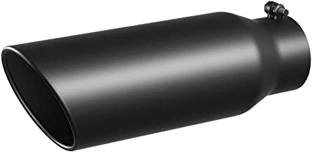3 Inch Inlet Black Exhaust Tip, 3