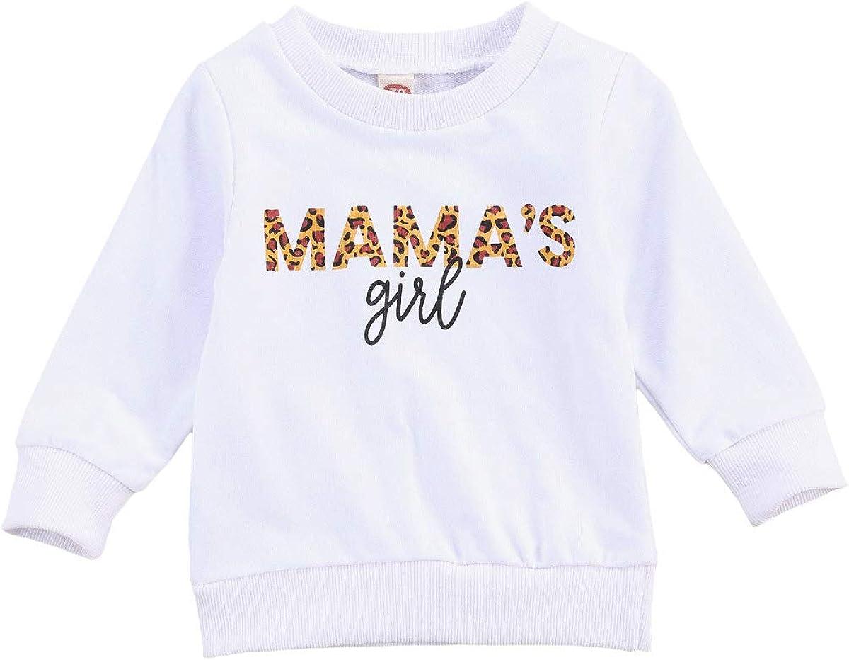 Newborn Baby Girls Boys Crewneck Sweatshirt Long Sleeve Letter Printed Pullover Shirts Oversized Autumn Tops