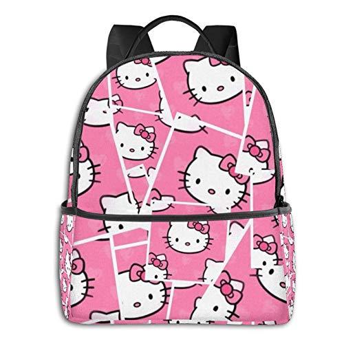 Hello Kitty Bapack Bolsa de viaje con cremallera suave, adecuada para la universidad, la escuela, mochilas informales de 14.5 x 12 x 5 pulgadas