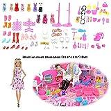 funnyfeng 106 Stücke Puppe Zubehör Set für Barbie, Kinder Spielhaus Spielzeug Barbie Puppen...