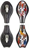 MAXOfit Waveboard Pro Close Mini Fire, Bis 129 Kg mit Leuchtrollen und Tasche - Monopatín de waveboard (129 kg)