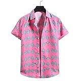 SSBZYES Camisas De Manga Corta para Hombres, Tops Casuales De Verano, Camisas De Playa Cómodas Y De Moda, Camisas Florales De Manga Corta con Flores De Colores Sueltos Informales