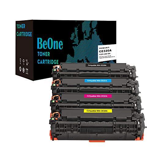 BeOne Cartucho de tóner HP 128A CE320A CE321A CE322A CE323A para HP Colour Laserjet Pro CP1525 CP1515N CP1525N CP1525NW CM1415 CM1415FN CM1415FNW