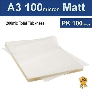 A3 Laminating Pouches Film 100 Micron Matt (PK 100)