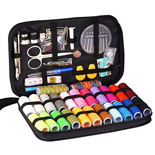 Diamondo 98pcs DIY Multi-function Threads Sewing Box Kit for Hand Quilting Stitching