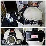 Headlamp Lampe torche de tête/casque 3bulbes 5000LM LED rouge retro300005