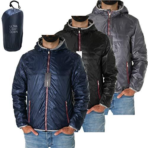 GAS | Galy Hood |Ultra-Leichte Herren Daunen Jacke mit Kapuze (Blau, 2XL)