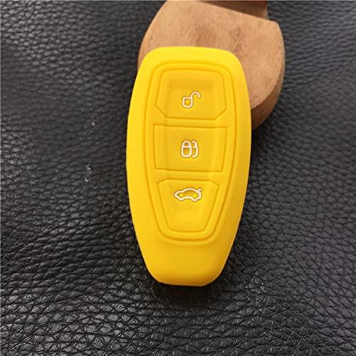 Bajeoiu Funda de Goma de Silicona para Llave de Coche, para Ford Focus 3 MK3 ST RS Ecosport Kuga Nueva Fiesta Fiesta Focus Mondeo3 Botones Llave Inteligente