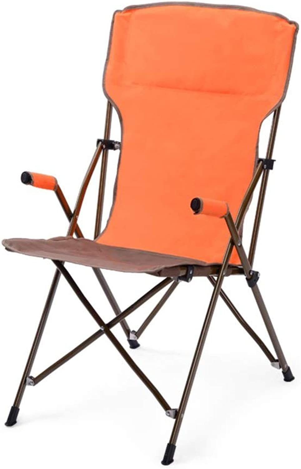 Klappstuhl Camping Stuhl Portable Outdoor Compact Ultraleicht Angeln Strand Wandern Picknick (Farbe   Orange)