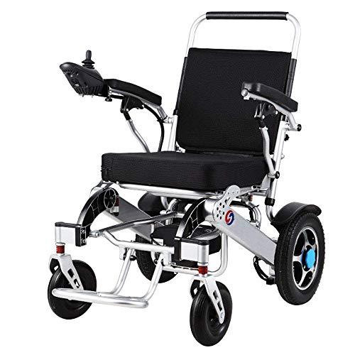 GJJSZ Sedia a rotelle portatile,sedia a rotelle elettrica leggera Sedia a rotelle pieghevole Disabile Batteria per Litio per Scooter per anziani