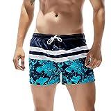 Cinnamou Pantalones Cortos para Hombres, Estampado Troncos De Natación Secado Rápido Pantalón Hombre Traje Surf de Playa