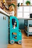 Torre de Aprendizaje/Escritorio y Taburete Montessori (Rosa/Gris)