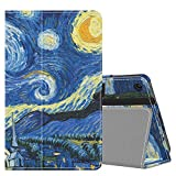 MoKo Funda Compatible con Amazon Kindle Fire 7 Tablet (9th Generation - 2019 Release), Ultra Slim Función de Soporte Plegable Smart Cover Stand Case - Noche Estrellada