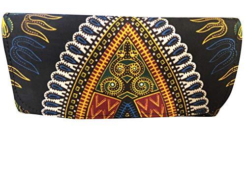 JBG Black Dashiki Handmade African Print Clutch Purse Envelope Handbag Wristlet - Wallet For Women - Color Black