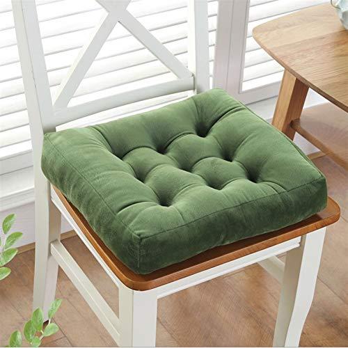 GTD-Cojines para Exterior, Cojín de Silla, Sillas de Asiento para el cojín para la Oficina de Cocina para jardín Interior para Exteriores Oficina de Cocina, en 12 Colores, 45 * 45 cm (Color : Green)
