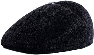 Winter Men's Irish Flat Cap Tweed Ear Flap Hat Soft Faux Fur Hunting Hat