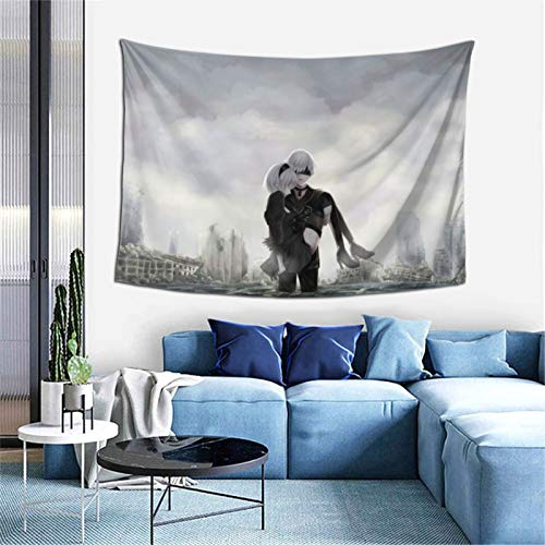 NieR Automata 2B Tapestry Blanket Window Drape Home Decor Curtain Covering Bedroom Collage Dorm Office 60X40 inch