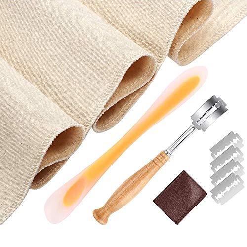 Yoouo Französisch Baguette Backwerkzeug Kit mit Proofing Leinen Stoff fermentierte Couche-Backzubehör