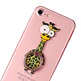 UnderReef Cell Phone Finger Ring Holder Cute Animal Smartphone Stand 360 Swivel for iPhone, Ipad, Samsung HTC Nokia Smartphones Tablet (Giraffe)